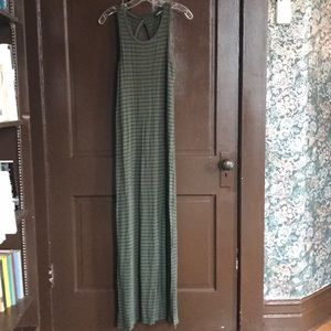 Express Olive Maxi with Black Stripes